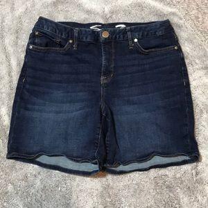 Seven7 Dark Wash High Rise Jean Shorts Size 12